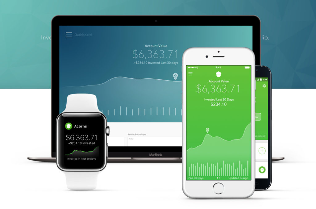 acorns investments for college students