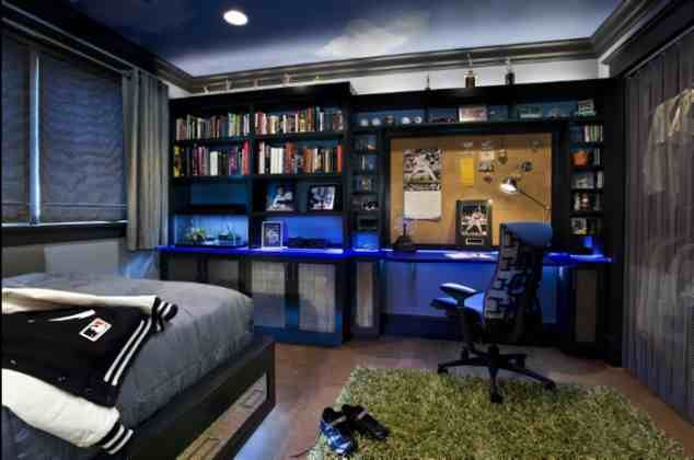 Modern room with LED lights