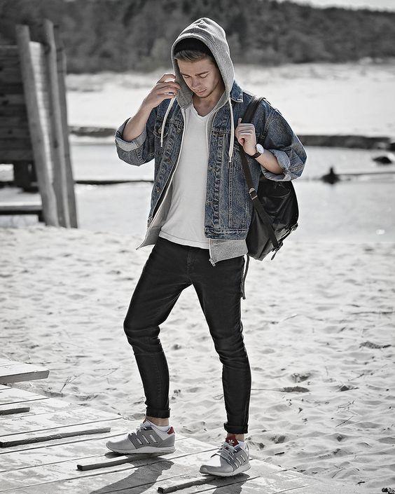 Double denim jacket teen style