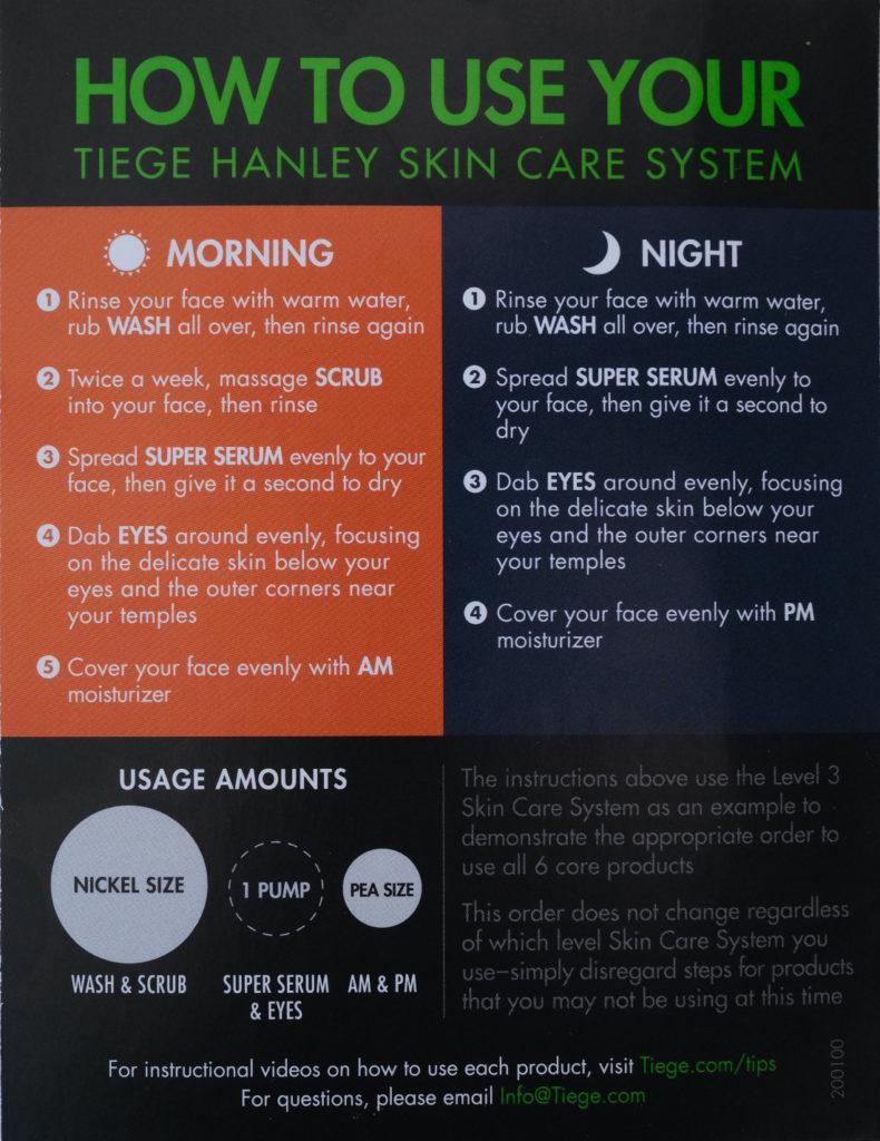 Tiege Hanley Instructions Card