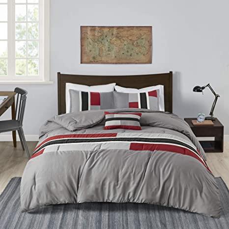 modern geometric striped comforter set