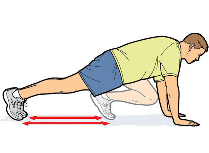 mountain climbers cardio workout at home