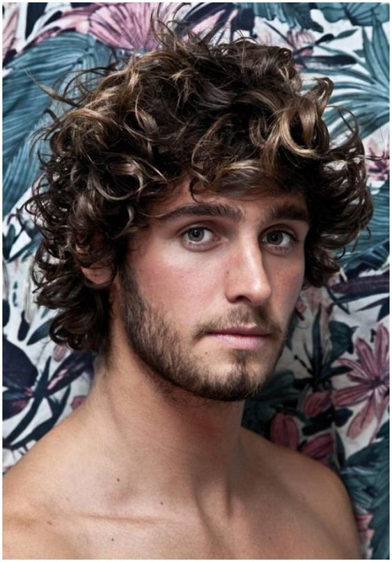 long hair high volume curly hair for men