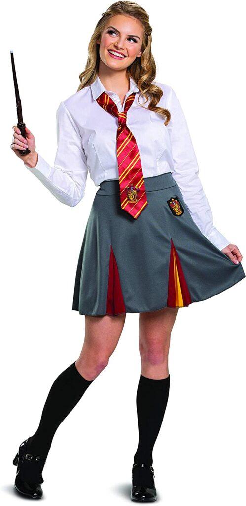 hermione granger halloween costumes for teenage girls gryffindor skirt