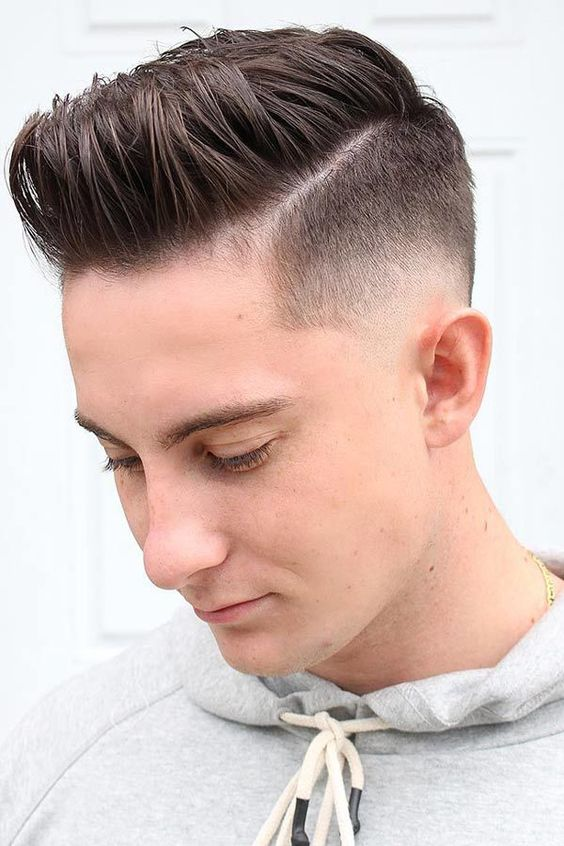 disconnected high fade hairstyle for guys