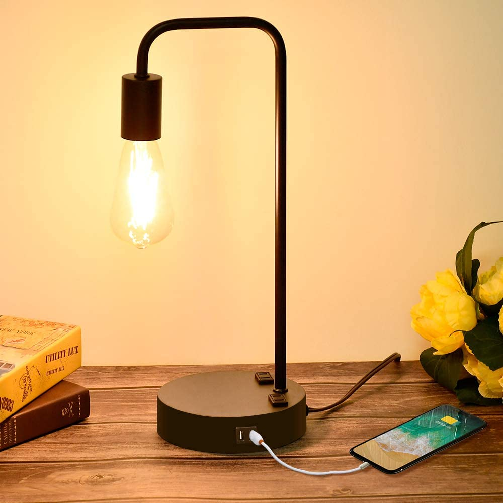 desk lamps for dorm rooms with usb charging ports