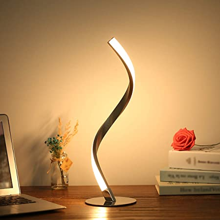 spiral desk lamp touch button for college